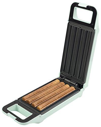 Bestron Churros Maker, Waffeleisen für bis zu 4 Churros, Retro Design, 700 Watt, Sweet Dreams, Mint