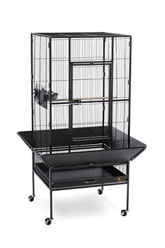 Prevue Pet Products 3352BLK Park Plaza Bird Cage, Black Hammertone