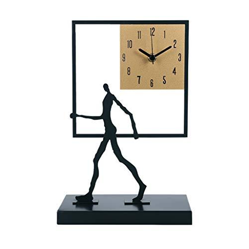 liushop Decoraciones Esculturas Table Reloj Sala de Estar Casa Moda Desktop Art Reloj Adorno Gran Adorno Personalidad Creativa Mute Dormitorio Escritorio Reloj Obra Arte