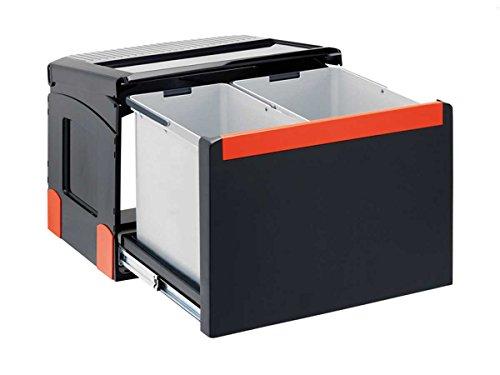 Franke Cube 50 2 fach Handauszug Mülltrennung / Abfallsammler 1x 14 Liter + 1x 18 Liter