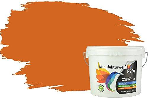 RyFo Colors Bunte Wandfarbe Manufakturweiß Aprikose 6l - weitere Orange Farbtöne und Größen erhältlich, Deckkraft Klasse 1, Nassabrieb Klasse 1
