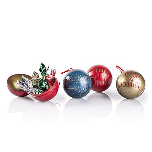Venchi Palline di Natale - Cioccolatini Fondenti e Al Latte Misti - Confezione Regalo - Senza Glutine - 48 gr