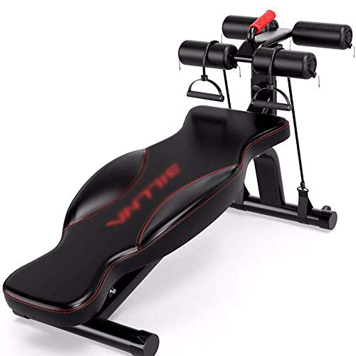 AYDQC Hantelbank Fitnessgeräte Multifunktions-Sit Up Bench Haushalt Hantelbank Bauch-Workout Bench fengong (Color : RED)