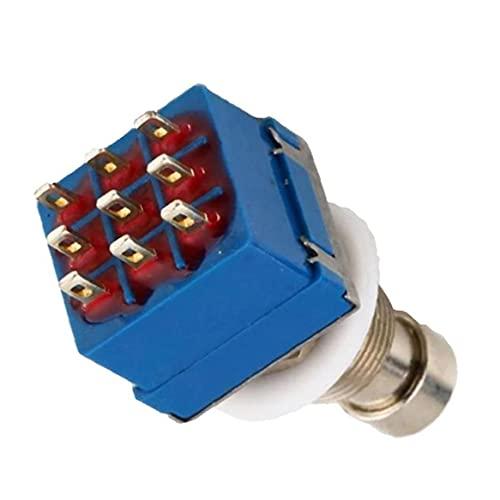 Efectos de guitarra pedal interruptor 3PDT 9 pines pedal de pie componentes de control eléctrico True Bypass Accesorios para guitarra industriales