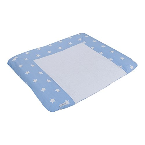 LITTLE DUTCH 4184 Wickelauflagenbezug Sterne hellblau Gr. 75x85 cm