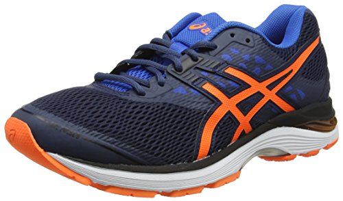 Asics Gel-Pulse 9, Zapatillas de Running para Hombre, Azul (Dark Blue/Shocking Orange/Victoria Blue 4930), 40.5 EU