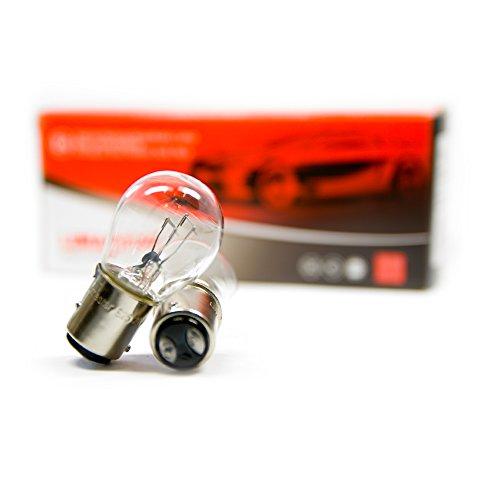 20 bombillas BAY15d S25 P21/5 W para camión o autobús, 3200 K, 21 W, 5 W, color blanco, 24 V