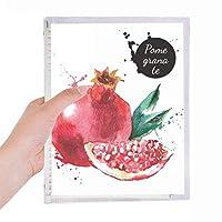 pamegranateフルーツのおいしい健康的な水彩画 硬質プラスチックルーズリーフノートノート