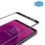 TAMOWA [2 pièces Verre Trempé pour Samsung Galaxy A8 2018, Couverture Complète Film Protection en...