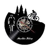 LKJHGU Mountainbike Wanduhr Freeride Biker Sport Vintage