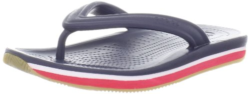 crocs Crocs Retro Flip-flop Kids 14204-485-115 Unisex-Kinder Zehentrenner, Blau (Navy/Red), EU 24-26 (UKC8-9)