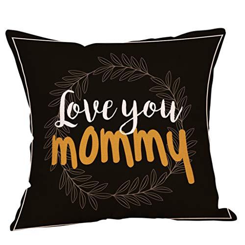 Dasongff Home Decor kussenhoezen, sofakussen, kussensloop, Pillowcase, moederdagkussen, cadeau-kussen, 45 x 45 cm