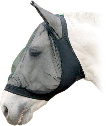 USG Fliegenmaske mit Ohrenschutz, schwarz, Warmblut