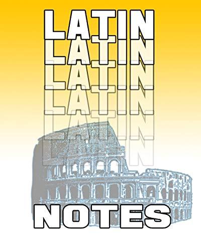 Latin Notes: Latin Journal, 8x10 Composition Book, Latin School Notebook, Latin Language Student Gift (On Target Language Notebooks)