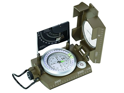 Herbertz - Compass, cápsula amortiguadora de líquidos, 360 Grados, Marcas crepusculares, Lupa,...