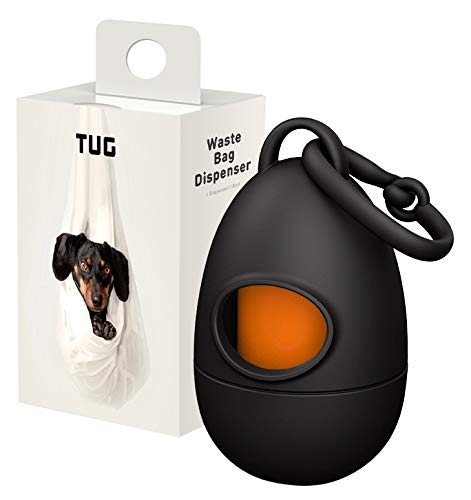 TUG Dog Waste Bag Dispenser with Dog Poop Bags, 15 Bags Per Roll, With...