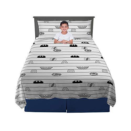Franco Kids Bedding Sheet Set, 4 Piece Full Size, Justice League