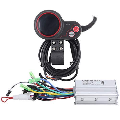 CHICIRIS Panel de Control de Pantalla LCD, admite 3 Niveles de Controlador de retroiluminación, para Bicicletas eléctricas, Scooters eléctricos(24V 250/350W Color Screen Dual Mode)