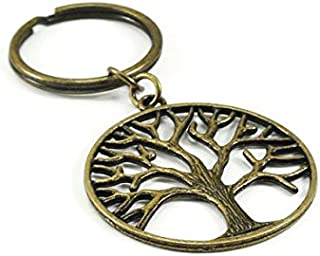 On Sale Tree of Life Key Chain Antique Brass Bronze Metal Key Ring