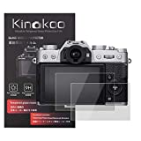kinokoo Película de Vidrio Templado para Fuji X-T30/X-T20/X-T10/X-E3/X-A2/X30/XF10 Crystal Clear Film Protector de Pantalla Fujifilm X-T30 sin Burbujas/antiarañazos (Paquete de 2)