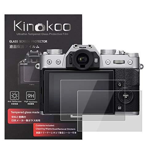 kinokoo Gehärtetes Glas für Fuji X-T30/X-T20/X-T10/X-E3/X-A2/X30/XF10 Kristallklarer Film Fujifilm X-T30 X-T20 X-T10 X-E3 X-A2 X30 XF10 Displayschutzfolie Blasenfrei/Kratzfest(2er Pack)