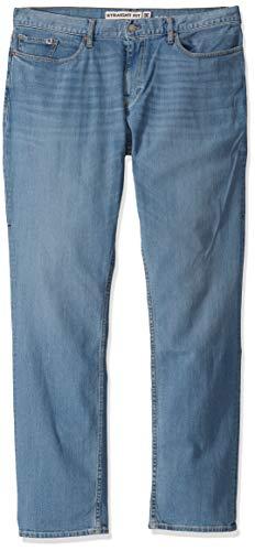 DC Men's Worker Straight Stretch Denim Jean Pants, Light Indigo Bleach, 2932