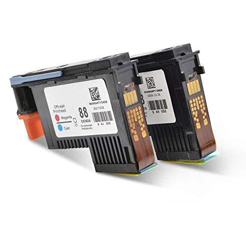 Wolfgray Paquete de 2 HP 88 Cabezal de Impresión 88 Cabezal de Impresión C9381A C9382A para HP Officejet Pro K5400 L7480 L7500 L7550 L7580 L7590 L7650 L7680 L7710 L7750 L7780 L7790 Impresora