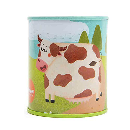 AzuNaisi Sonido animal clásico de Ruidos impresión de la vaca Latas juguete del sonido del partido completo Set Bundle simulación juguete de sonido