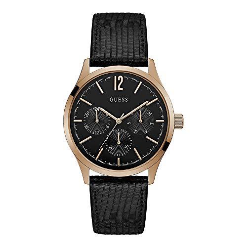 Guess Reloj Analógico para Hombre de Cuarzo con Correa en Piel W1041G3