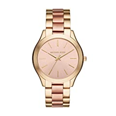 From jet setting adventures to the 9 to 5 grind, the iconic Slim Runway watch collection by Michael Kors provide luxurious style with a modern splash of trend-right touches Featuring a 42mm case, 20mm band width, scratch-resistant mineral crystal gla...