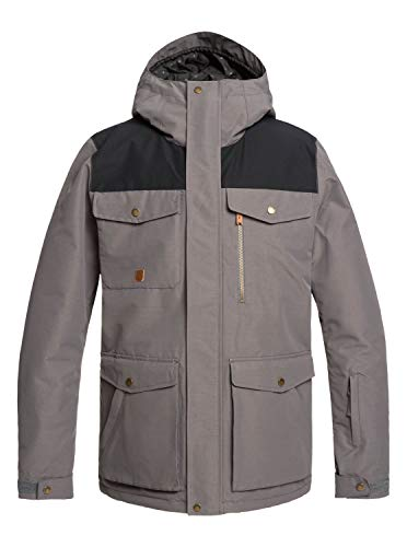Quiksilver Mens Raft - Snow Jacket for Men Snow Jacket Black L