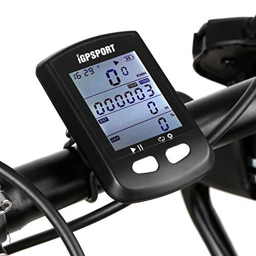 Lixada Ordenador de Bicicleta con GPS BT5.0 Ant + Inalámbrico con Retroiluminación Automática Ordenador de Ciclismo IPX6
