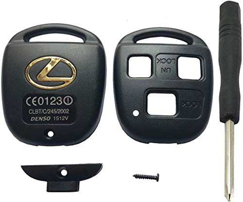 Replacement Key Fob Case Shell Fit for Lexus ES GS GX IS LS LX RX SC GX470 GS300 Keyless Entry Remote Control Key Fob Cover Housing 3 Buttons