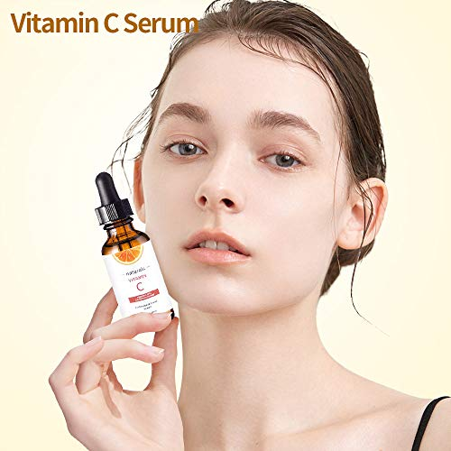 41AjGzFQscL - Vitamin C Serum for Face with Hyaluronic Acid, Vitamin E & Niacinamide (B3) Face Serum for Anti Wrinkle, Anti Aging, Hydrate & Dark Spot Vitamin C Oil Facial Serum
