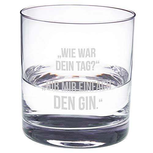 Geschenke 24 Gin Glas mit Gravur – Dein Tag: gravierte Gin Gläser von Leonardo - Gingläser Geschenk, Gläser Gin Geschenkidee