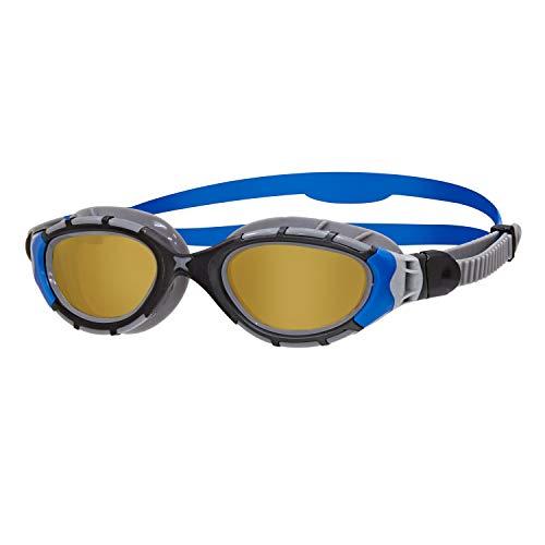 Zoggs Predator Flex Polarized, Unisex Adulto, Blk/Silver/Blue, Unica