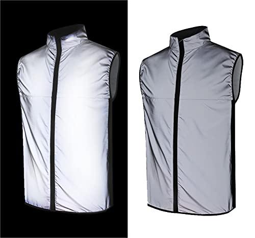 Firmcam Stark reflektierende Running-Sicherheits-Weste in Silber - für Damen, Herren und Kinder von AudiNova - Größe XL