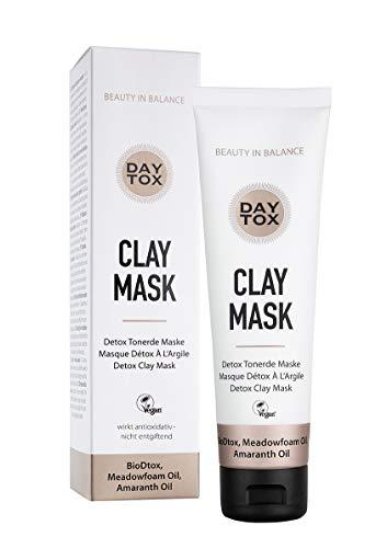 DAYTOX - Clay Mask - Tonerde Maske mit Heilerde - Vegan, ohne Farbstoffe, silikonfrei und parabenfrei - 100 ml