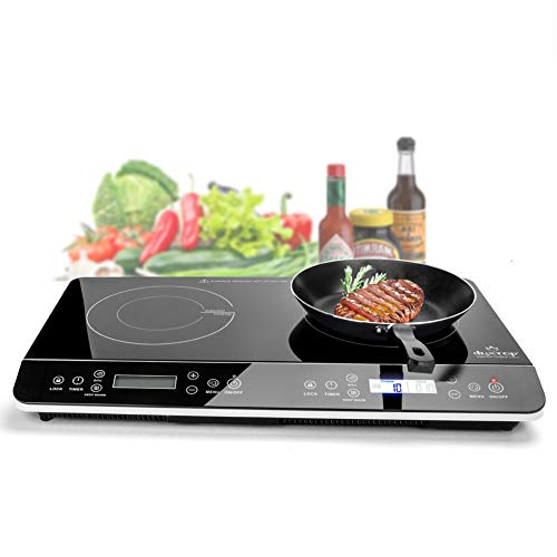 Duxtop 9620LS LCD Portable Double Induction Cooktop 1800W Digital Electric Countertop Burner Sensor...