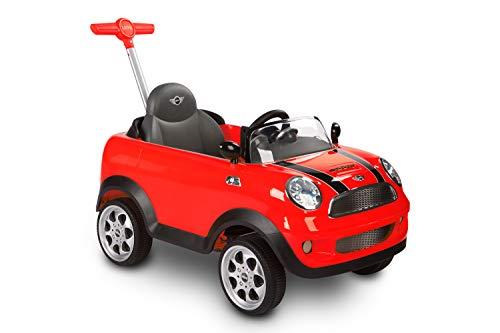 ROLLPLAY Push Car mit ausziehbarer Fußstütze, Für Kinder ab 1 Jahr, Bis max. 20 kg, MINI Cooper, Rot