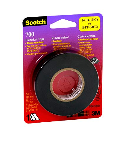 3M Safety Scotch Electrical Tape, 3/4-Inch by 66-Foot, Multicolor