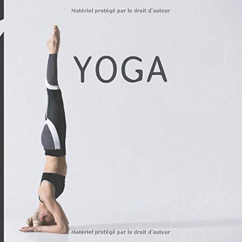 Yoga: Agenda yoga - cahier avec calendrier mensuel - yoga Féminin