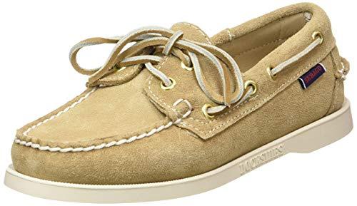 Sebago Docksides Portland Suede W, Women's 7000510 Boat Shoes 5 UK, Beige Beige Camel 906