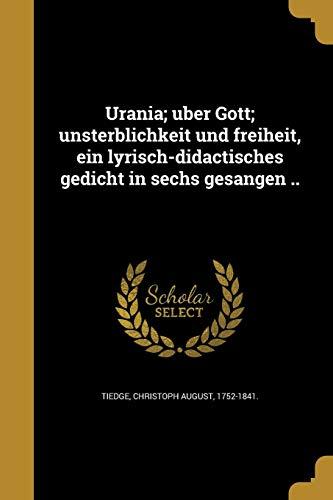 GER-URANIA U BER GOTT UNSTERBL