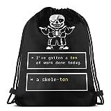 Ady Undertale - Sans Skeleton - Undertale T Shirt Drawstring Bags Gym Bag