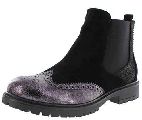 Lepi laarzen Nero zwart licht gevoerd gatenpatroon met ritssluiting