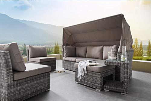 Preisvergleich Produktbild Destiny Lounge Loungegruppe Bahia Sitzgruppe Sofaset Faltdach Polyrattan