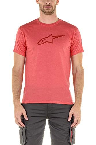 Alpinestars Herren T-Shirt Ageless II Tee, Red Heather/Red, L, 1037-72022
