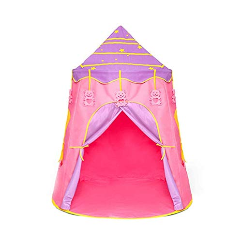 Child Toy Tent Game House, Yurt Play Tent Portable Foldable Kids Starry Sky Castle, Fun Children's Toy Rest Tent For Indoor And Outdoor 0926 (Color : Pink)