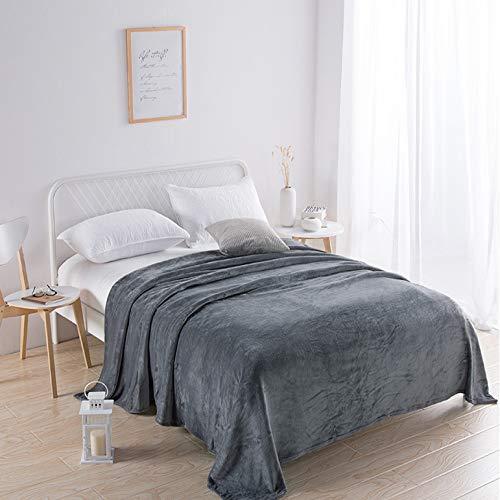Deken deken beddengoed dekbed laken sprei airconditioning tv bed balkon slaapkamer bank woonkamer stoel kinderkantoor donkergrijs